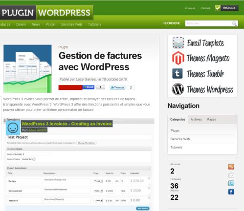 Wordpress-factures